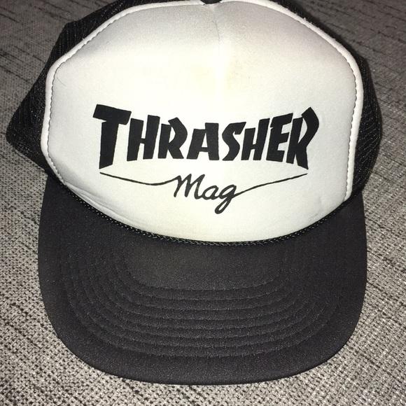 281494c01d8 cameo Other - VINTAGE Thrasher Magazine Trucker Snap Back